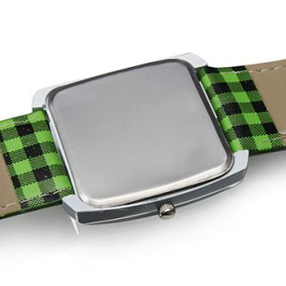 EUR € 6.71   Reloj Pulsera Quartz Tiempo Verde con Correa PU de