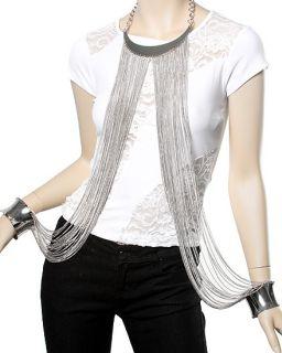 Love Hip Hop ATL K Michelle Metal Choker Necklace Chain Bracelet Body