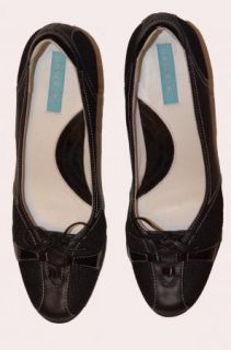 SA Michelle K High Heel Shoes Pumps Black Mesh Leather Textile Upper 9