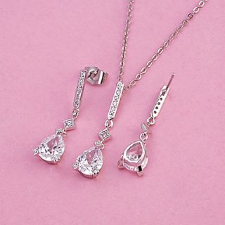 USD $ 19.12   Fashion Crystal With Platinum Plated Jewelry Set,