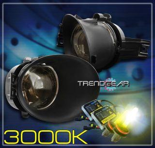 02 09 Dodge RAM 1500 2500 3500 Truck Bumper Smoke Fog Light Lamp Bezel