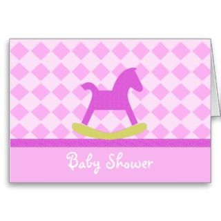 Pink Rocking Horse Baby Shower Invitation by SayItNow