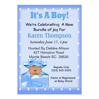 African American Baby Shower Personalized Invitations