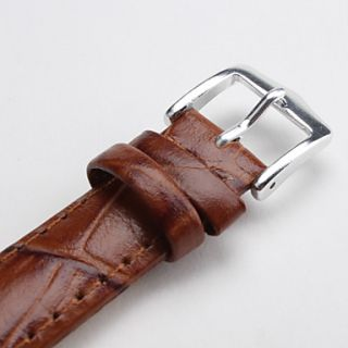 EUR € 2.66   unisex correa de cuero genuino reloj de 16 mm (marrón