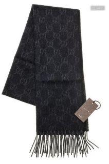 Gucci Schal Scarf Cashmere Kaschmir GG Pattern Black