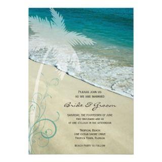 Palm Tree Wedding Invitations, Announcements, & Invites
