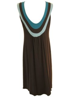 Kara Janx Brown Emerald Combo Dress Size Large