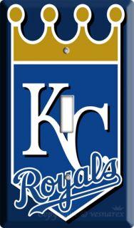 Kansas City Royals KC Baseball MLB Single Switch Plate