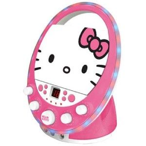 HELLO KITTY KIDS DISCO PARTY LIGHTING CD+G KARAOKE SYSTEM w/ 2