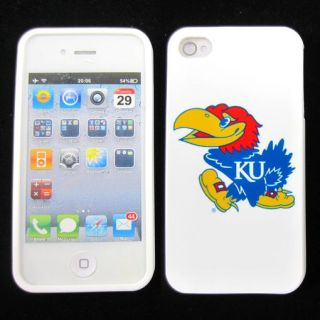 Kansas Jayhawks Silicone Rubber Skin Case Phone Cover for Apple iPhone