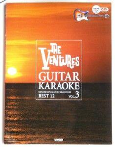 The Ventures Karaoke Vol 3 Japan Guitar Tab Book w CD not Band Score