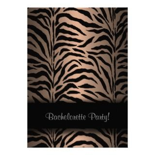 Leopard Bachelorette Party Invitation