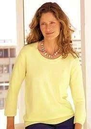 Karen Scott Yellow 3 4 Sleeve Cotton Shirt Top Womens XL New
