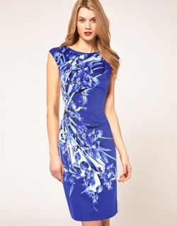 Karen Millen Signature Floral Print Dress Size 10 UK 8 AU