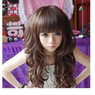 New Syle Womens Girls Sexy Long Fashion Full Hair Wig Wavy Curly