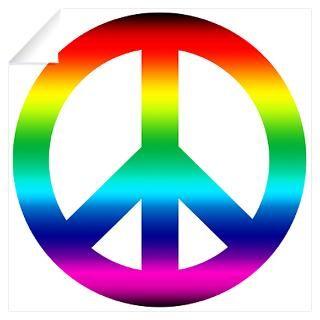 Wall Art  Wall Decals  Rainbow Peace Sign Wall