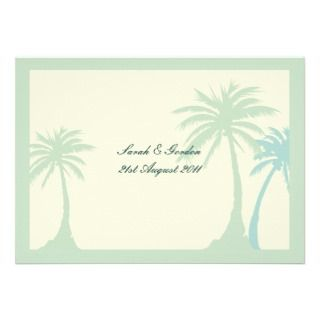 Green Palm Tree Wedding Invitation