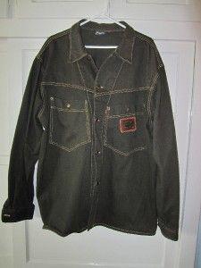 Mens Vintage Karl Kani Denim Jacket Shirt Jean Urban Hip Hop