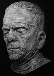 Boris Karloff Mummy Life Mask Famous Monsters Sculpture