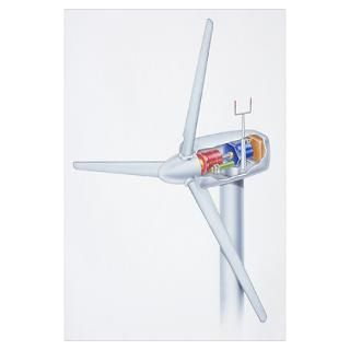 Wall Art > Posters > Wind turbine, with view of