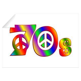 Wall Art  Wall Decals  70s PEACE SIGN Wall Decal