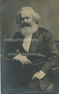 Karl Marx German Socialist Philosopher Writer Antique Photo Postcard