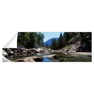 Wall Art  Wall Decals  Mountain behind pine trees