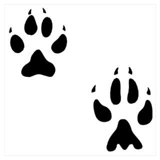 Wall Art  Posters  Canine Paw Prints Wall Art