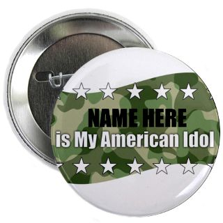 Air Force Gifts  Air Force Buttons  PERSONLIZED Idol 2.25 Button