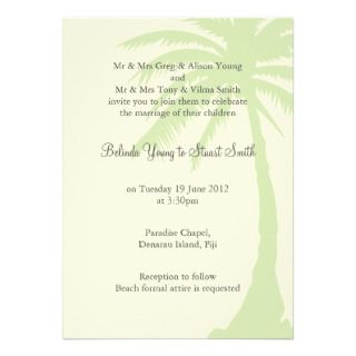 Simple Palm Tree Wedding Invitation 2