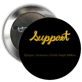 Support Epilepsy Awareness Month Purple Ribbon Buttons, Pins, & Badges