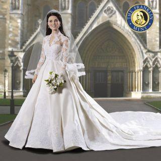 The Franklin Mint Kate Middleton Wedding Bride Bridal Vinyl Doll