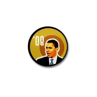 Obama 08 small campaign pin  Barack Obama 2008 Campaign Retro