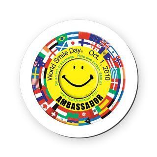 World Smile Day(r) 2010 3 Lapel Sticker (48