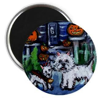 westie trick o treat magnet $ 5 49 qty availability product number