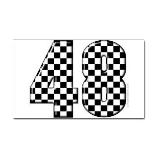 Stickers  Racing Number 48 Rectangle Sticker