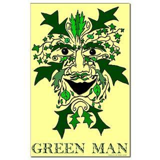 Green Man 11x17 inch poster  Earthophilia  Irregular Liberal