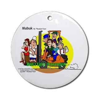 Forklift Safety Ornament (Round) > Forklift Safety Store   No