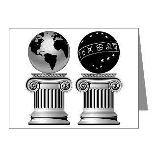 Freemason Note Cards  Two Masonic Pillars Note Cards (Pk of 10