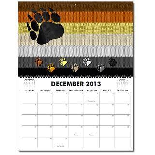 13 BEAR PRIDE FLAG DESIGNS Oversized 2013 Wall Calendar by bear_pride