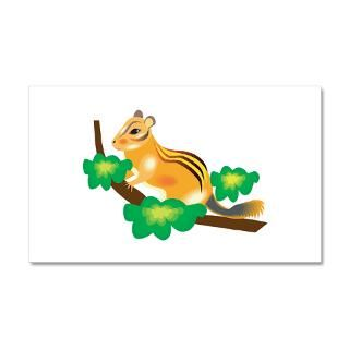 Animal Gifts  Animal Wall Decals  Cute Chipmunk in Tree 22x14