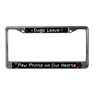 Dogs Leave Paw Prints License Plate Frame for $15.00