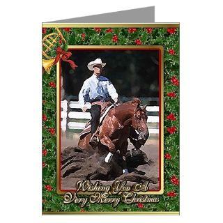 quarter horse christmas greeting cards pk of 20