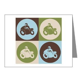 Gifts  Biker Note Cards  Riding Pop Art Note Cards (Pk of 20
