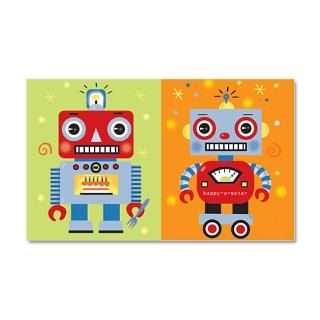 Birthday Gifts  Birthday Wall Decals  Robot 35x21 Wall Peel