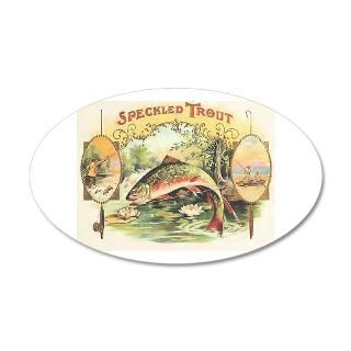 Cigar Wall Decals > Speckled Trout Cigars 38.5 x 24.5 Oval Wall Peel