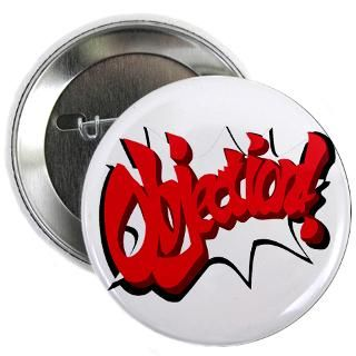 Pheonix Phoenix Wright Objection Buttons  Phoenix Wright 2.25 Badge