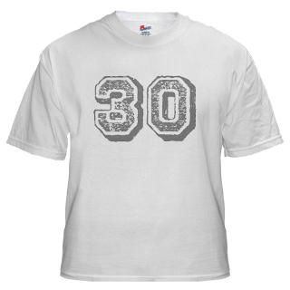 30 Number Thirty Years Old Birthday T shirts Gifts