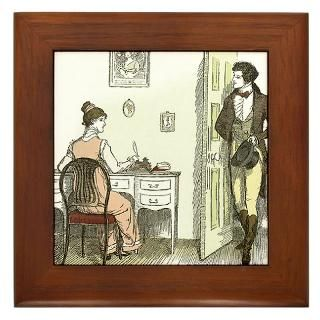 Pride & Prejudice Ch 32 Framed Tile for $15.00
