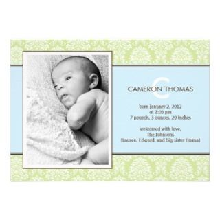Baby Boy Birth Invitations, Announcements, & Invites